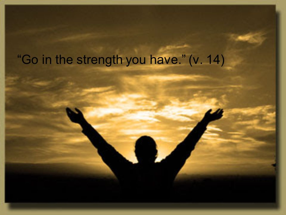 Go in your little strength